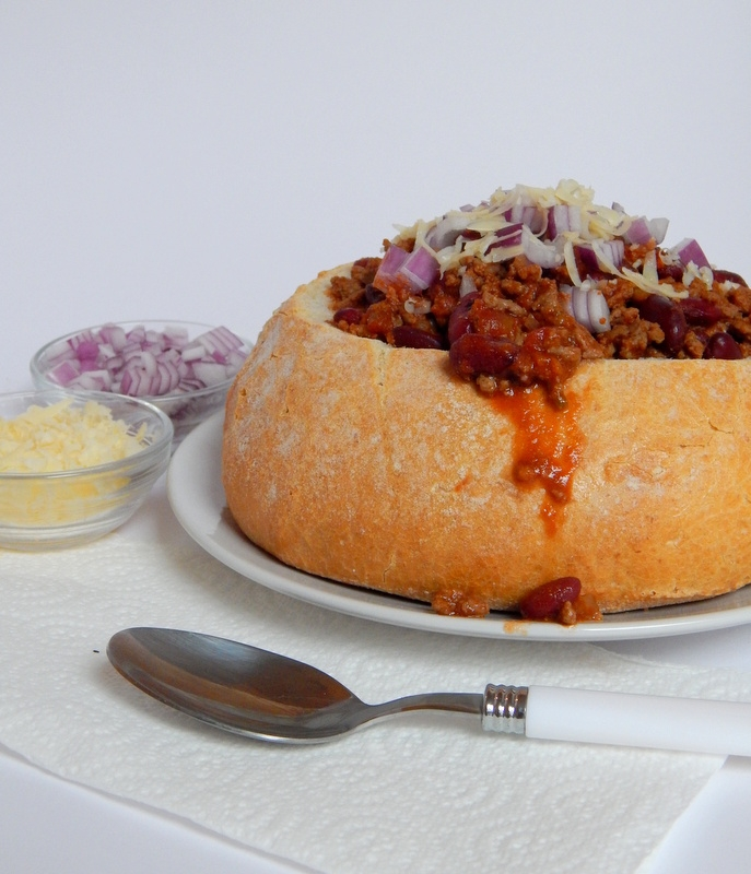 Chili In A Bread Bowl Cooking Is Messy